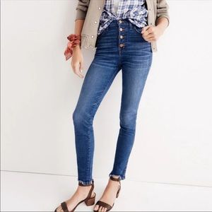 """Madewell 10"""" High Rise Skinny button fly Sz 24"""